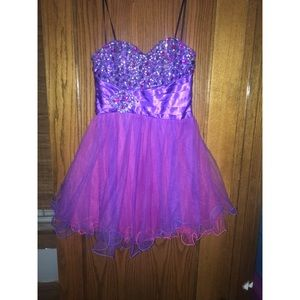 Dresses & Skirts - Pink and purple homecoming dress